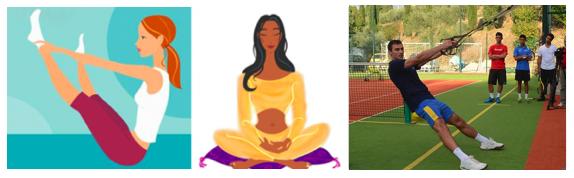 Yoga e Pilates sospesi nei secoli..e poi Trx con Luscan Dragos