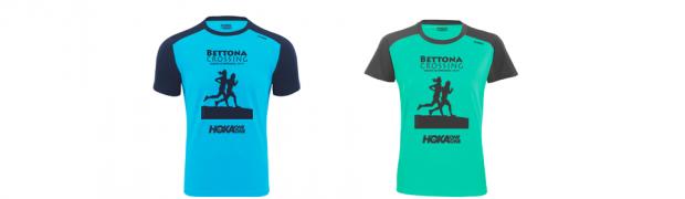 La t.shirt ufficiale Bettona Crossing 2019 firmate da HOKA ONE ONE